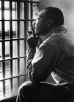 MARTIN LUTHER KING, JR, sitting in the Jefferson County Jail, in Birmingham, Alabama, 11/3/67. Everett/CSU Archives.
